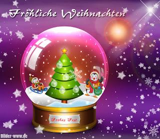 Schneeglobe Weihnachtsbilder frohe Weihnachten