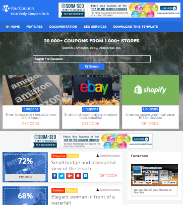 Your coupon Blogger Theme Download