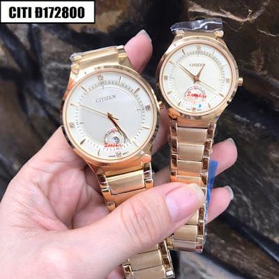 Đồng hồ cặp đôi màu vàng Citizen Citi Đ172800