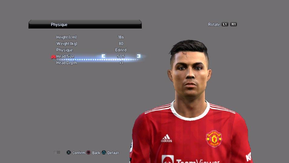 Cristiano Ronaldo Face (Manchester United ) For PES 2013