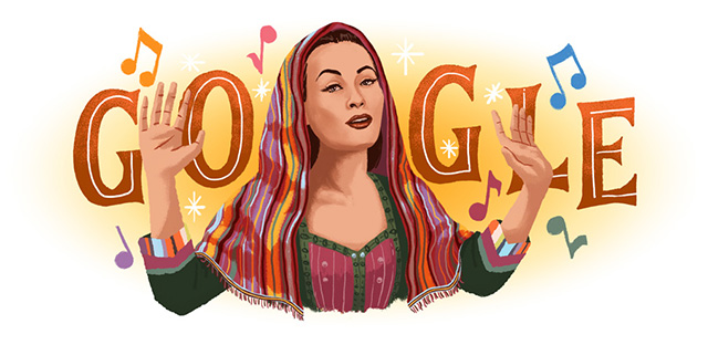 "Yma Sumac ""Peruvian Songbird"" & Google Doodle celebrates"