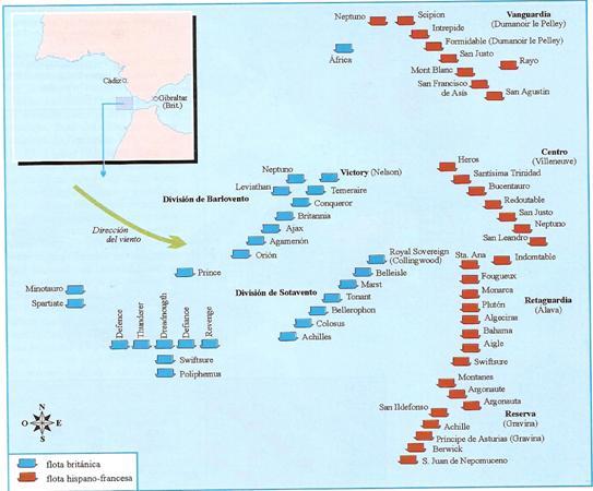 Batalla De Trafalgar Mapa.La Gestion De La Memoria Batalla De Trafalgar