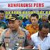 Konferensi Pers Kapolres Kab.Cianjur,Terkait Pencurian Dengan Kekerasan