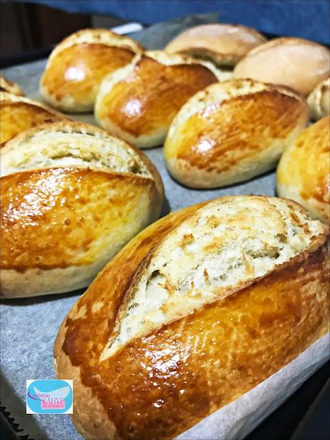 ekşi mayalı tahinli ekmek, ekşi mayalı porsiyonluk ekmek, ekşi mayalı ekmek yapımı, tahinli ekmek