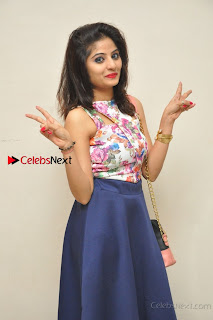 Kannada Actress Mahi Rajput Pos in Floral Printed Blouse at Premam Short Film Preview Press Meet  0011.jpg