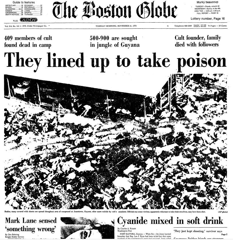 Stevenwarran Research Front Pages Boston Globe Nov 19 28 1978