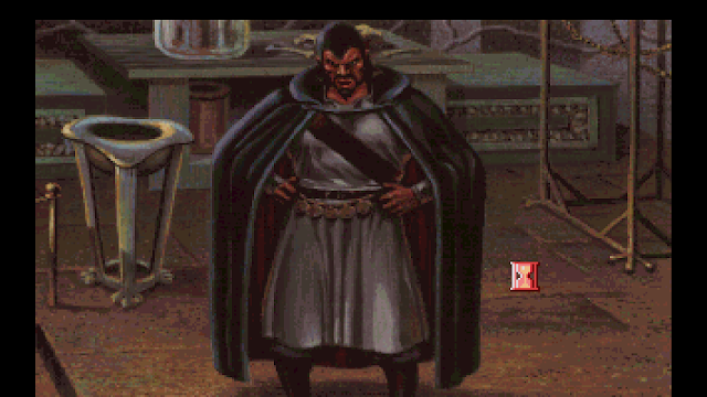 Screenshot of Mordack calling you a swine in King's Quest V