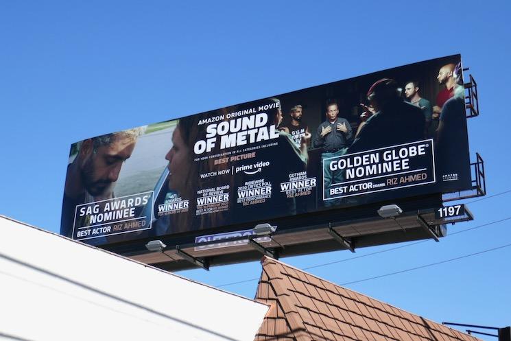 Sound of Metal Golden Globe billboard