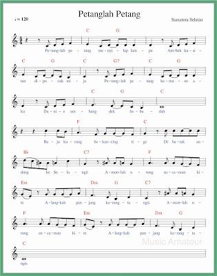 not balok lagu petanglah petang 1