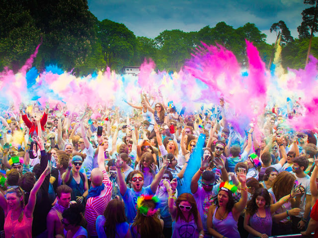 Picture Of Holi Festival Festival for Colouring