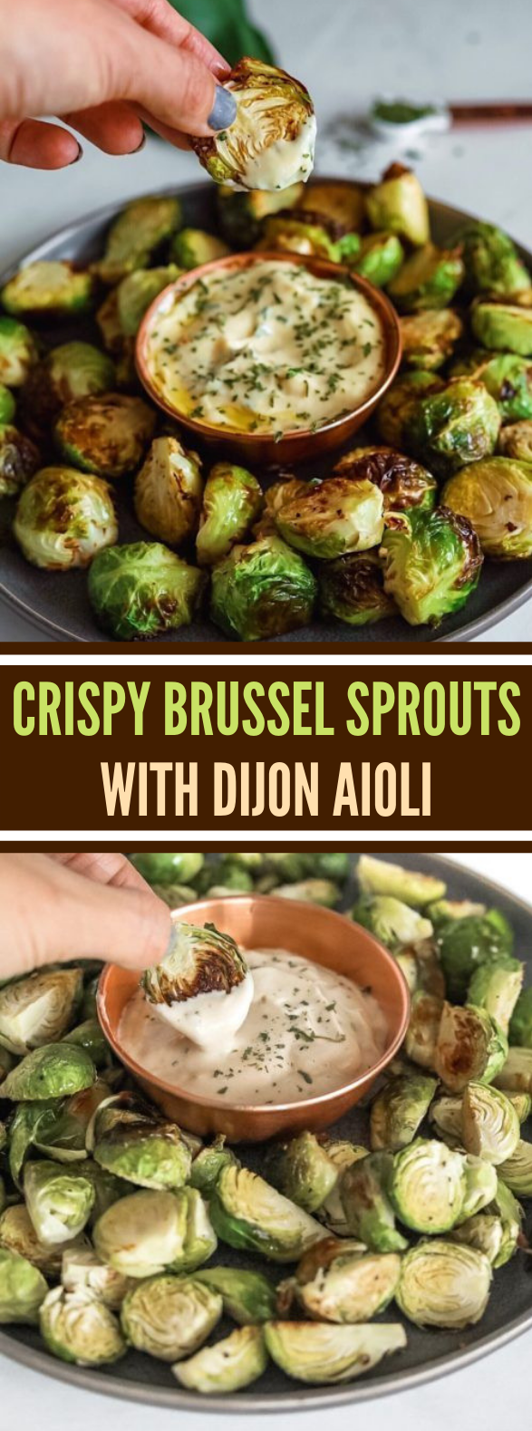 CRISPY BRUSSEL SPROUTS WITH DIJON AIOLI #vegetarian #dippingsauce