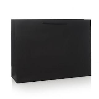 siyah mat selefonlu karton çanta