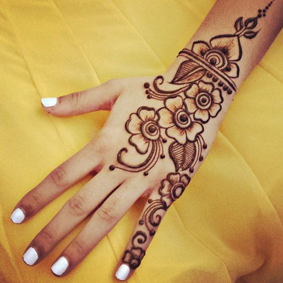 Latest Basic Mehendi Designs For Bride Modern Full Hand Palm Design