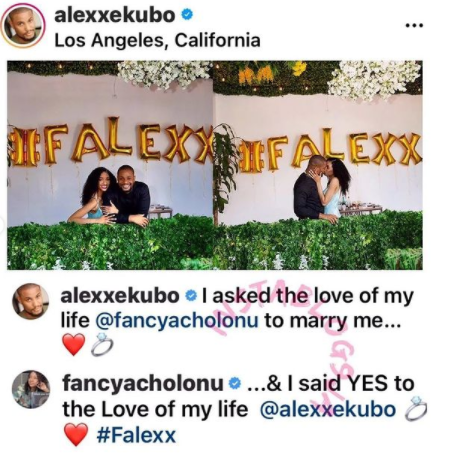 Actor Alex Ekubo and his Fiancee, Fancy Acholonu breaks up as they call off their wedding