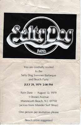 Salty Dog Summer Barbecue July 29, 1979 at Monmouth Beach, New Jersey