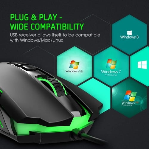 Review PICTEK Wired Ergonomic Gaming Mouse
