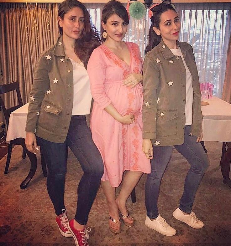 Kareena Kapoor, Taimur and Karisma Attended Soha Ali Khan's Baby Shower