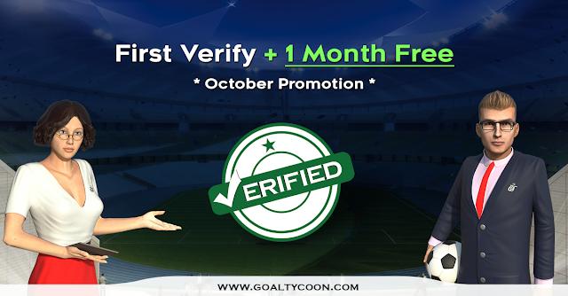 عرض أكتوبر : شهر مجاني للحسابات الجديدة  GoalTycoon 1 Free Month of Verified