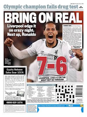 هذا ما قالته الصحف الأوروبية عن مباراة روما ضد ليفربول