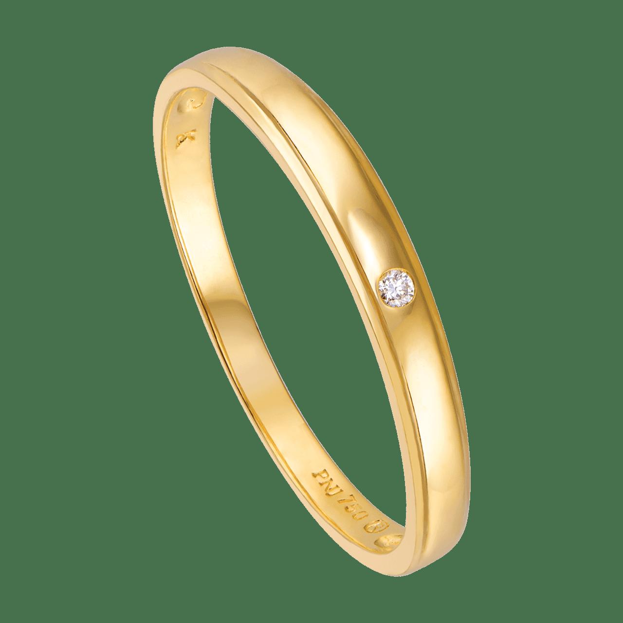 Nhẫn cưới Kim cương Vàng 18K PNJ Chung Đôi DD00Y000679