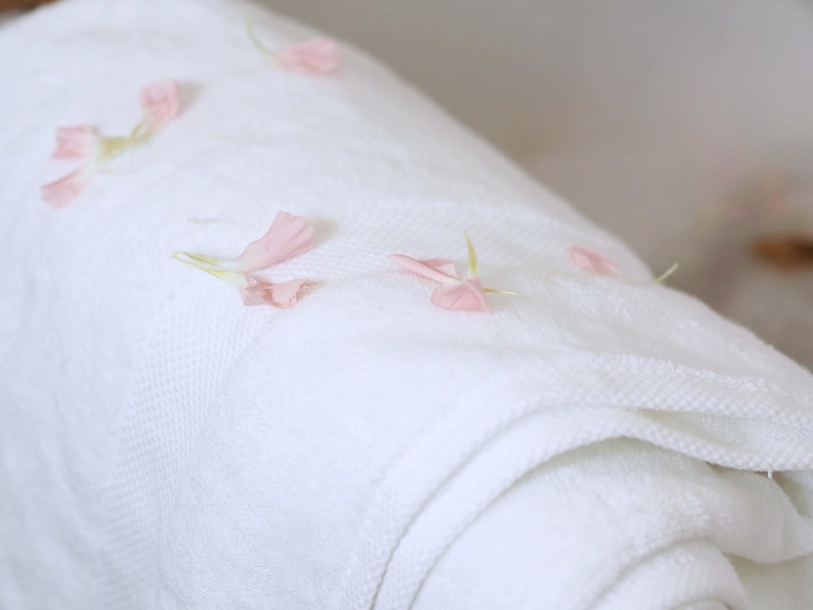 white sainsburys towel