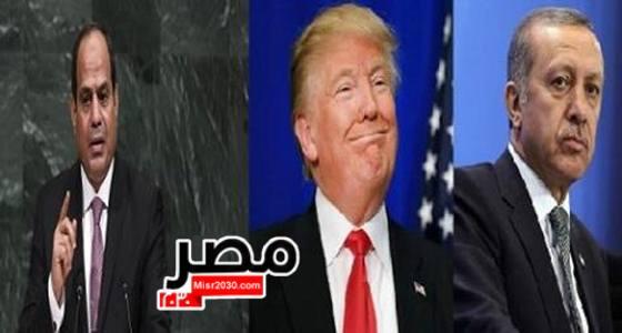 السيسي وترامب وأردوغان