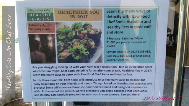 Last February 4, 2017, I was able to attend the talk Healthier You in 2017 held in Healthy Eats Organic Store and Cafe (formerly Sugarleaf Makati, which opened November 2011)