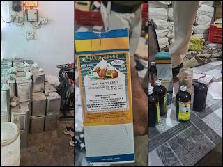 अमानक घी तैयार करने वाले के विरुद्ध थाना माढ़ोताल पुलिस द्वारा की गई कार्यवाही, किया गया गोदाम सील