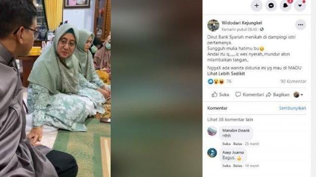 VIRAL Istri Direktur Dampingi Suami Lamar Wanita, Video saat Ucap Janji Istri Tua Dipeluk: Bismillah