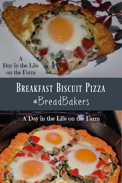 Breakfast Biscuit Pizza pin