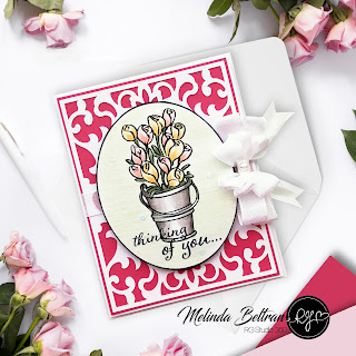 Melinda Beltran | Spring Card | RG Studio 360 | Spring Thoughts Stamps