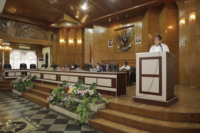 Wabup Asahan Sampaikan Jawaban Bupati atas Pandangan Umum Fraksi terhadap Ranperda Tentang Perubahan APBD T.A. 2021