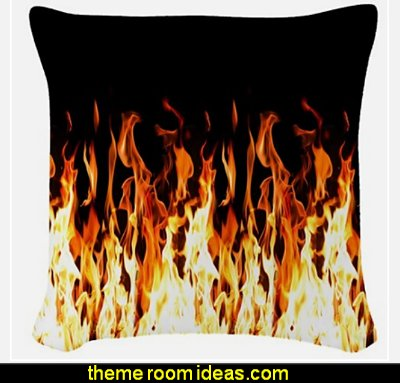 Flames Woven Throw Pillow