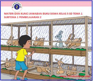 MATERI DAN KUNCI JAWABAN BUKU SISWA KELAS 5 SD TEMA 1 SUBTEMA 1 PEMBELAJARAN 2
