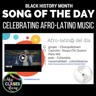 Afro-latino del día - Song of the day - Black History Month