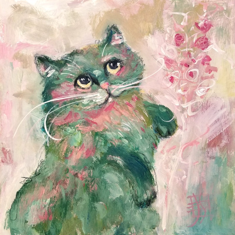 CAT #16 by Joanie Springer 30 CATS in 30 Days