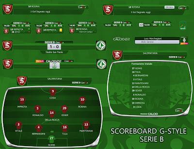 PES 2017 Scoreboard Serie B by G-Style
