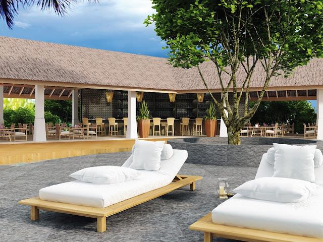 Hondaafushi Island Resort, Hauptrestaurant und Bar