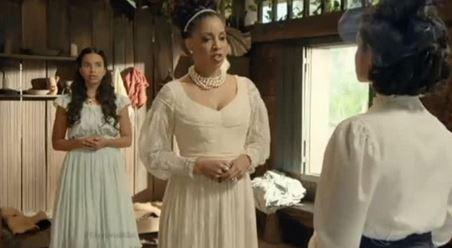 Condessa Catarina  figurino vestido cena novela Escrava Mãe