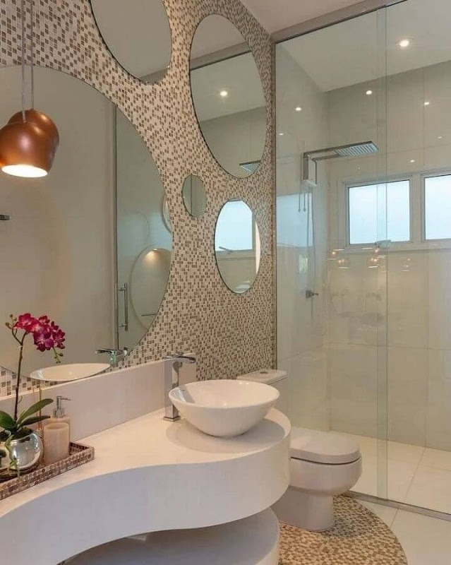 How to choose round mirror for bathroom