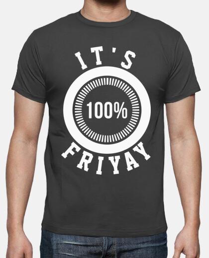 Camisetas Hombre - Diseño It's Friyay (blanco)