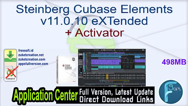 Steinberg Cubase Elements v11.0.10 eXTended + Activator