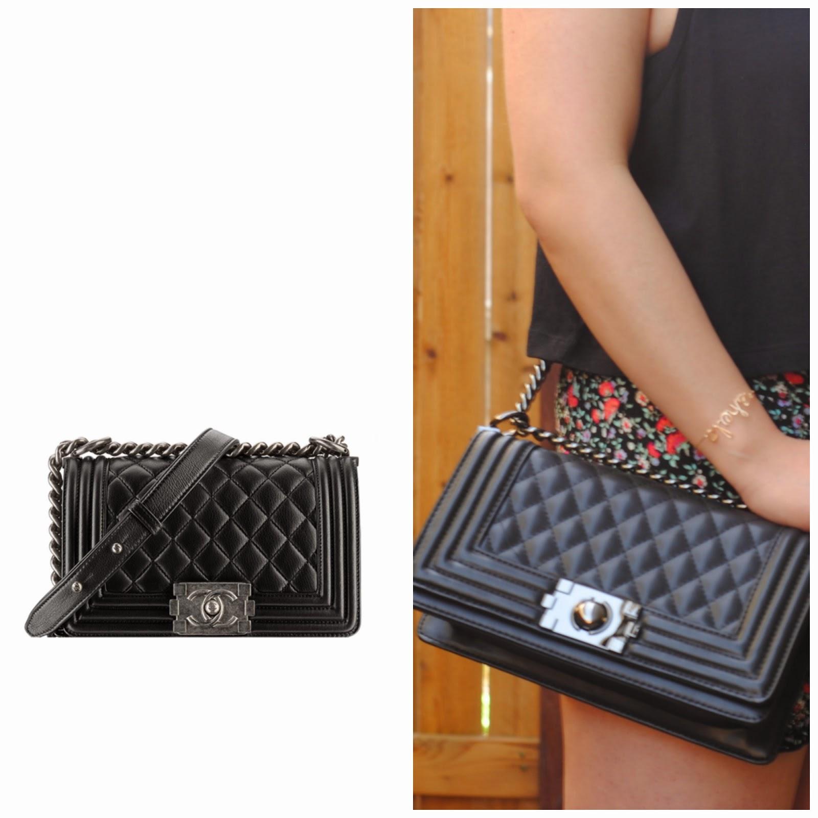 6ec12826a3c176 She is Lovely: Splurge vs Save: Chanel Boy