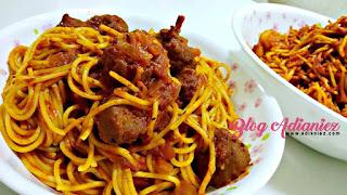 spagetti goreng meatball