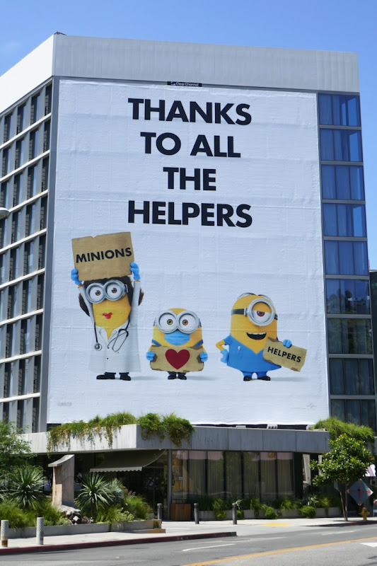 Minions Thanks to all helpers billboard