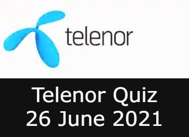 Telenor Answers 26 June 2021