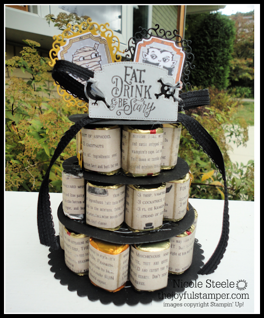 Halloween Hershey Nugget Cake using Stampin' Up' Monster Bash product suite