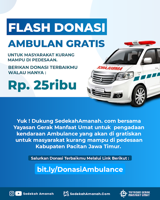 Donasi Ambulance Sedekah Amanah