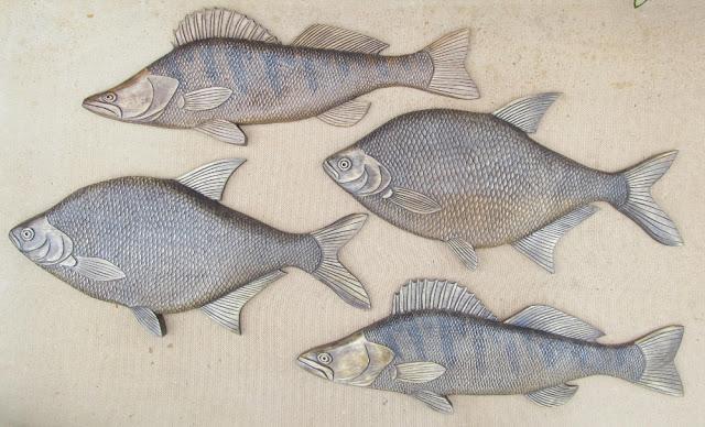 Резьба по дереву рыбы