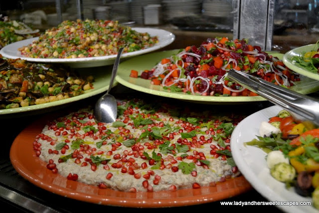 different kinds of salads at Baker and Spice